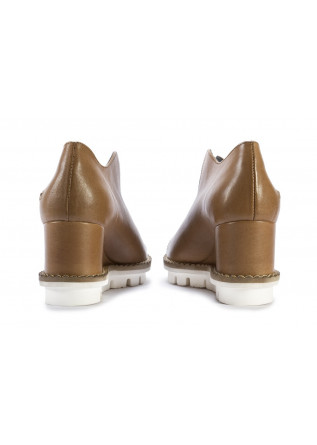 WOMEN'S SHOES SANDALS WEDGES CAFFELATTE BROWN PATRIZIA BONFANTI