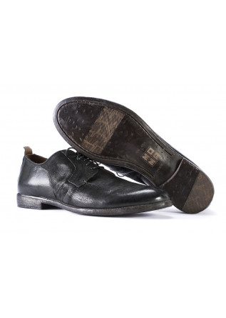 MEN'S SHOES FLAT SHOES IN LEATHER HANDMADE BLACK MOMA