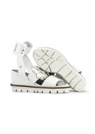 Leather Women's White Wedges Bonfanti Sandals Shoes Patrizia l1cTKFJ
