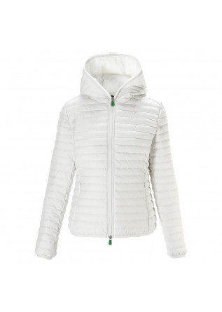 WOMEN'S CLOTHING JACKET ECO FRIENDLY PLUMTECH WHITE SAVE THE DUCK