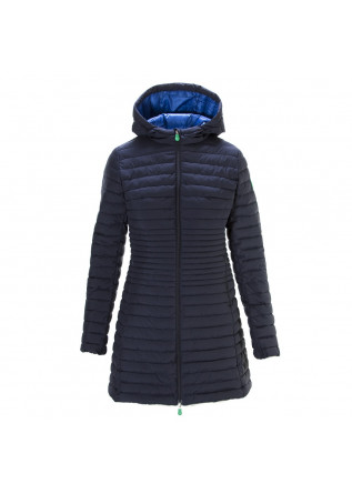 WOMEN'S CLOTHING JACKET WATERPROOF MATT DARK BLUE SAVE THE DUCK