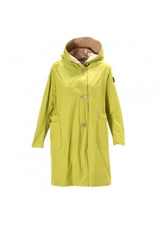 WOMEN'S CLOTHING JACKET WATERPROOF LIME GREEN / LIGHT BROWN OOF