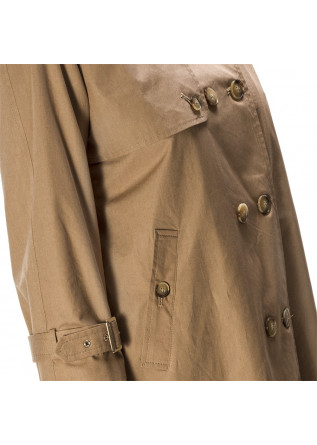 WOMEN'S CLOTHING TRENCH COAT COTTON BISCUIT BEIGE MERCI
