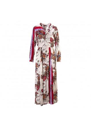 WOMEN'S CLOTHING DRESS VISCOSE PRINT PINK / MULTICOLOR  SOALLURE