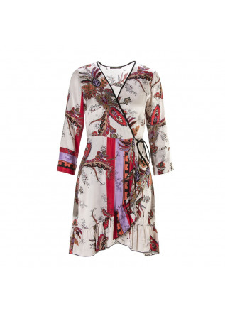 WOMEN'S CLOTHING DRESS / DRESSING GOWN VISCOSE PINK / MULTICOLOR SOALLURE