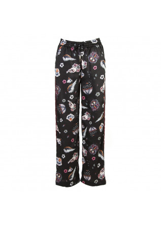 WOMEN'S CLOTHING TROUSERS MULTICOLOR PRINT / BLACK SOALLURE