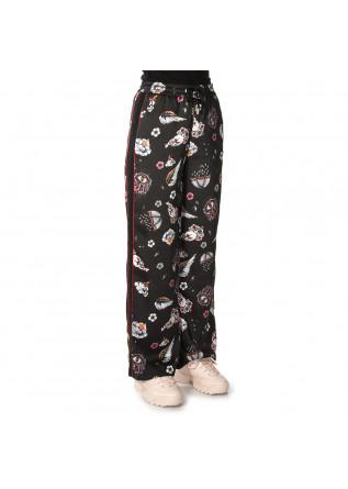 WOMEN'S CLOTHING TROUSERS MULTICOLOR PRINT / BLACK SOALLURE