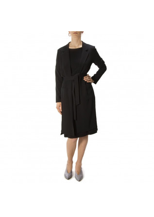WOMEN'S CLOTHING DRESS ORGANIC COTTON BLACK BIONEUMA