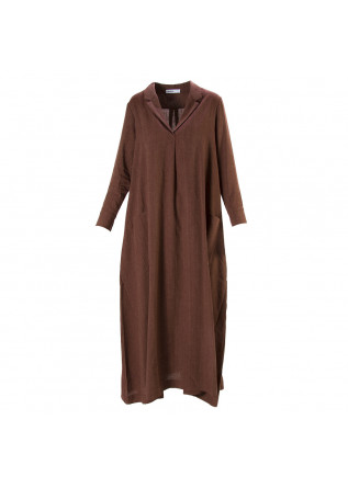 WOMEN'S CLOTHING LONG DRESS LINEN / COTTON BORDEAUX BIONEUMA
