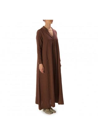 WOMEN'S CLOTHING LONG DRESS LINEN / COTTON BORDEAUX BIONEUMA
