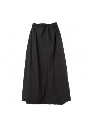 WOMEN'S CLOTHING LONG SKIRT ORGANIC COTTON BLACK BIONEUMA