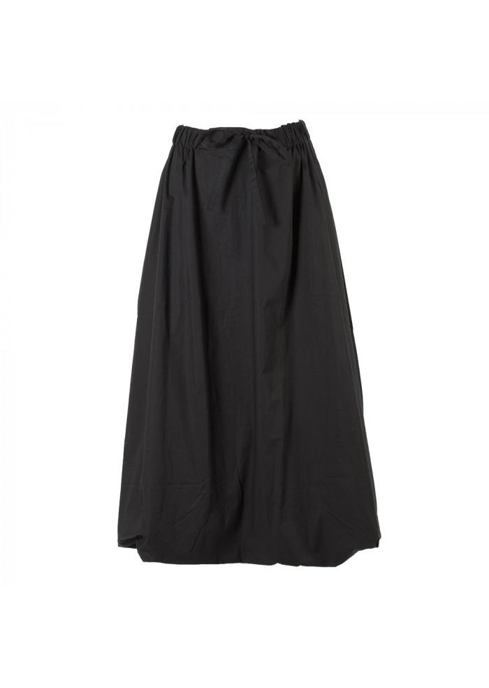 WOMEN'S CLOTHING LONG SKIRT ORGANIC COTTON BLACK BIONEUMA