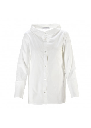 WOMEN'S CLOTHING SHIRT ORGANIC COTTON STRETCH WHITE BIONEUMA