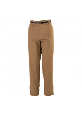 WOMEN'S CLOTHING TROUSERS LIGHT COTTON HAZELNUT BROWN MERCI