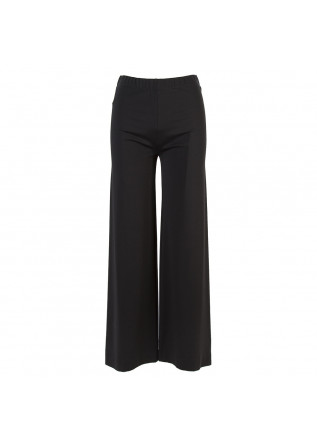 WOMEN'S CLOTHING TROUSERS VISCOSE STRETCH WIDE LEG BLACK MERCI