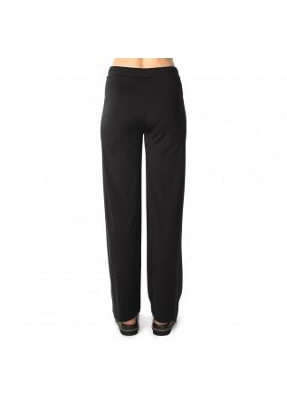 WOMEN'S CLOTHING TROUSERS VISCOSE STRETCH WIDE LEG BLACK MERCI