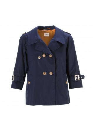 WOMEN'S CLOTHING TRENCH COAT SHORT IN COTTON DARK BLUE MERCI