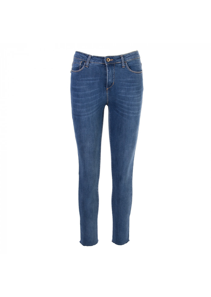 WOMEN'S CLOTHING JEANS 5 POCKETS SLIM FIT LIGHT WASHED BLUE MERCI