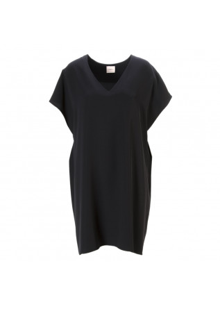 WOMEN'S CLOTHING OVERSIZE DRESS V-NECK BLACK MERCI