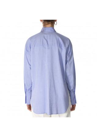 WOMEN'S CLOTHING LONG SHIRT MAXI CUFFS LIGHT BLUE MERCI