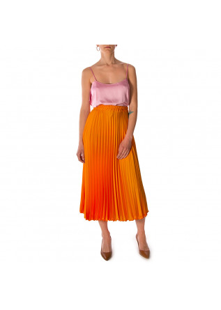 WOMEN'S CLOTHING SKIRT PLEATED STRETCH ORANGE MERCI