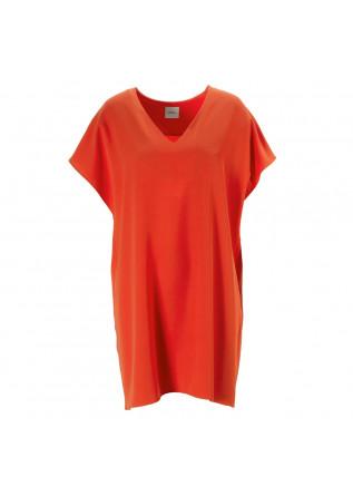 WOMEN'S CLOTHING OVERSIZE DRESS V-NECK PAPRIKA RED MERCI