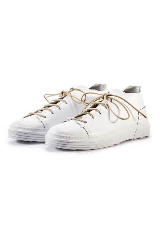 MEN'S SHOES SNEAKERS IN LEATHER HANDMADE WHITE MOMA