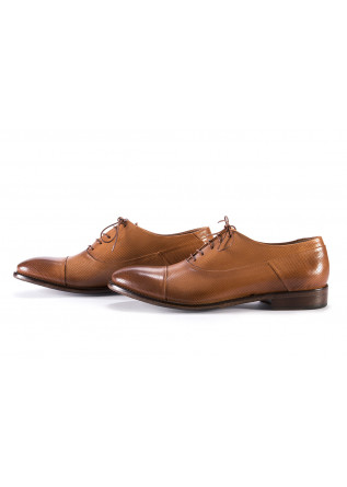 MEN'S SHOES LACE UP SHOES LEATHER MICRO HOLES LIGHT BROWN PAKROS