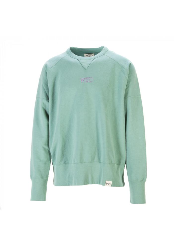 UNISEX CLOTHING SWEATSHIRT 100% ORGANIC COTTON GREEN WRAD
