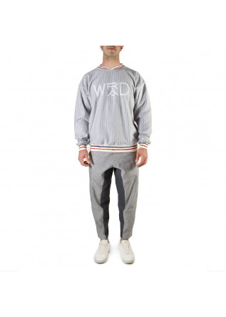 UNISEX CLOTHING SWEATSHIRT GOTS ORGANIC COTTON GREY WHITE WRAD