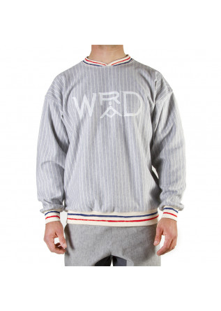 UNISEX CLOTHING SWEATSHIRT GOTS ORGANIC COTTON GREY WHITE WRAD
