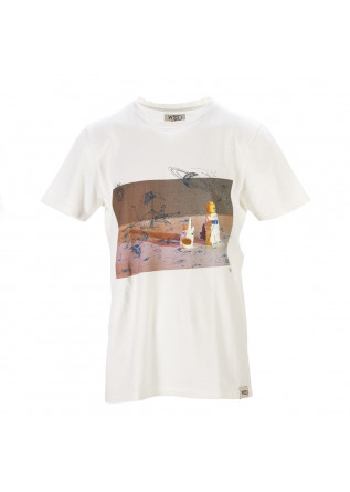 UNISEX CLOTHING T-SHIRT ORGANIC COTTON LEGO PRINT WHITE WRAD