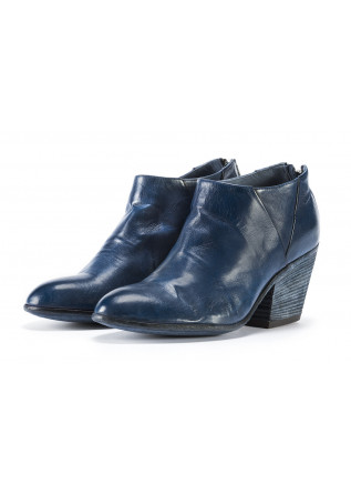 WOMEN'S SHOES ANKLE BOOTS TEXAN HEEL DARK BLUE OFFICINE CREATIVE