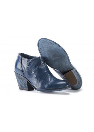 WOMEN'S SHOES ANKLE BOOTS TEXAN HEEL DARK BLUE OFFICINE CREATIVE