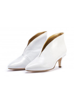 WOMEN'S SHOES PUMPS SUMMER ANKLE BOOTS V DECOLLETE WHITE L'ARIANNA