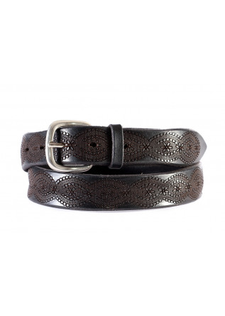 MEN'S ACESSORIES BELT GENUINE LEATHER SILVER BROWN BLACK ORCIANI