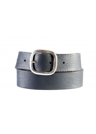 MEN'S ACCESSORIES BELT REVERSIBLE BRUSHED SUEDE GREY BLUE ORCIANI