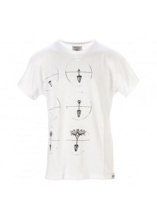 UNISEX CLOTHING T-SHIRT ORGANIC COTTON PRINT BLACK WHITE WRAD