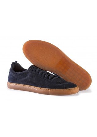 MEN'S SHOES SNEAKERS SUEDE CARAMEL / BLUE MANOVIA 52