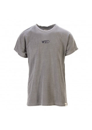 UNISEX CLOTHING T-SHIRT GRAPHI-TEE BIO COTTON BLUE LOGO GREY WRAD