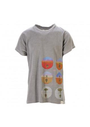 UNISEX CLOTHING T-SHIRT GRAPHI-TEE BIO COTTON 'SEED' PRINT GREY WRAD