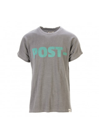 UNISEX CLOTHING T-SHIRT GRAPHI-TEE BIO COTTON POST PRINT GREY WRAD