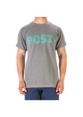 UNISEX CLOTHING T-SHIRT GRAPHI-TEE BIO COTTON POST PRINT GREY WRAD