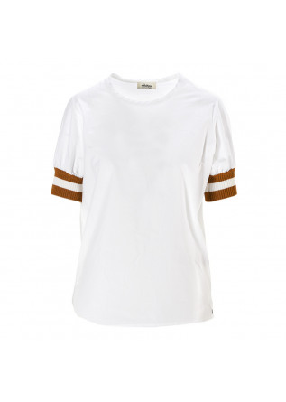 WOMEN'S CLOTHING SHIRT 100% COTTON CARAMEL / WHITE OTTOD'AME
