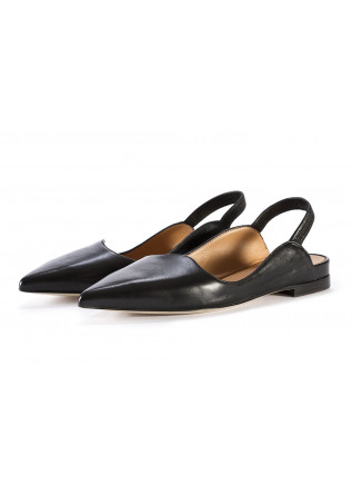WOMEN'S SHOES FLAT SHOES POINTED TOE LEATHER BLACK MARA BINI