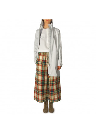 WOMEN'S CLOTHING PANTS LINEN TARTAN BEIGE GREEN RED PHISIQUE DU ROLE