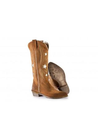 WOMEN'S SHOES COWBOY BOOTS SUEDE COGNAC / GOLDEN BROWN REP-KO