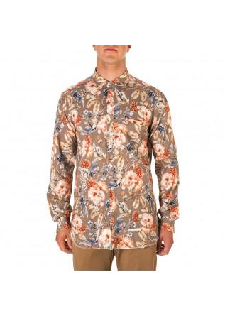MEN'S CLOTHING SHIRT FLOWER PRINT MULTICOLOR TINTORIA MATTEI 954