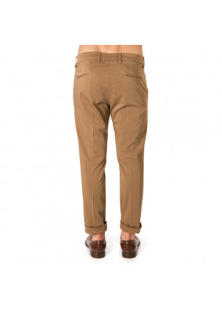 MEN'S CLOTHING CHINO COTTON SILK PANTS BISCUIT BROWN ENTRE AMIS