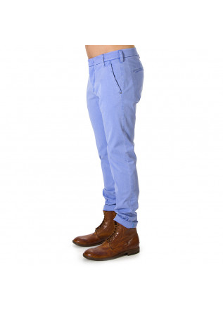 MEN'S CLOTHING TROUSERS CHINO LIGHT BLUE ENTRE AMIS